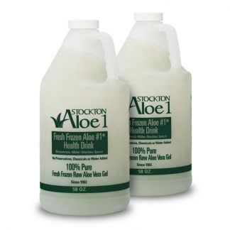 Two bottles Aloe Vera Gel